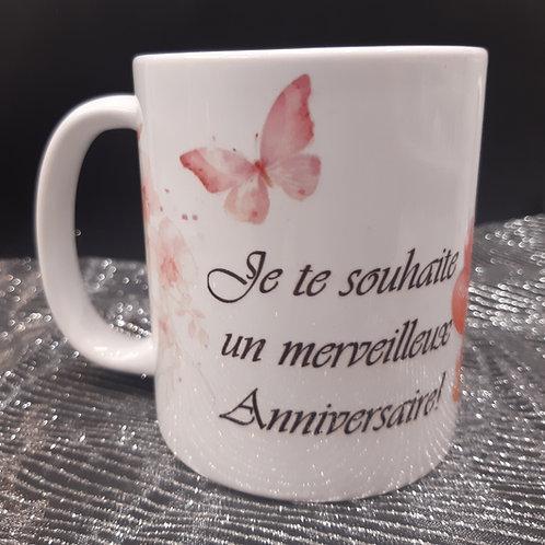Mug ANNIVERSAIRE Papillon