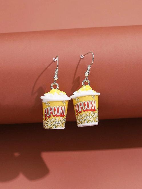 boucles d'oreilles pop corn