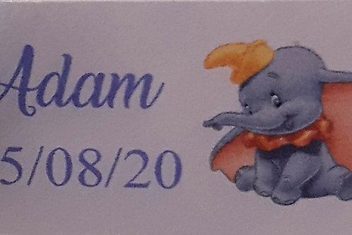 Etiquette Dumbo bleue