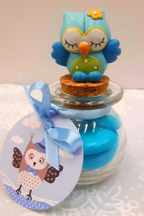 Bocal Hibou bleu
