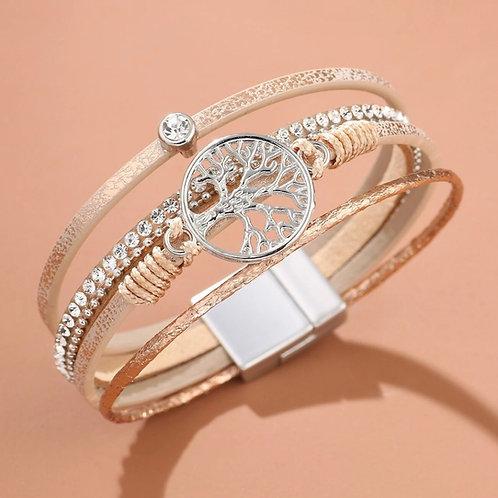 Bracelet aimanté arbre de vie