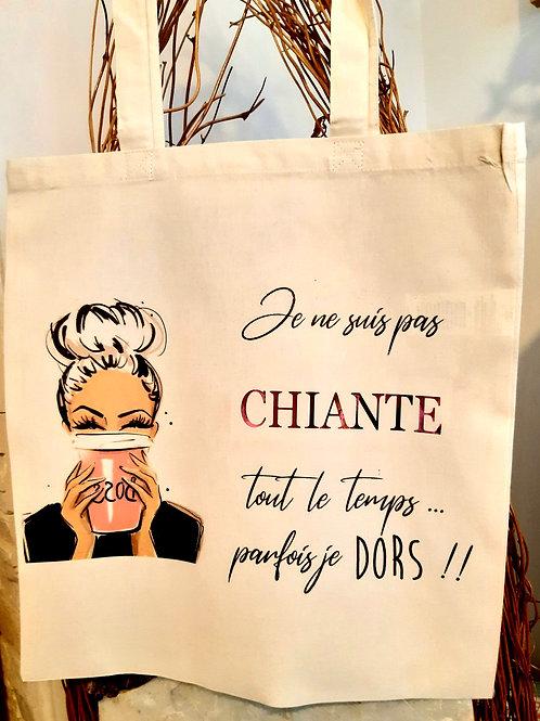 """Tote Bag coton """" Chiante"""""""