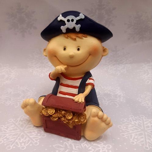 Tirelire pirate coffre