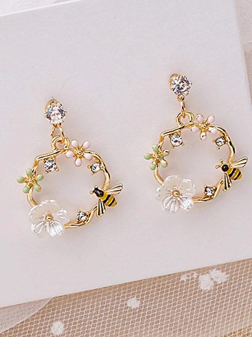 Boucles d'oreilles abeilles