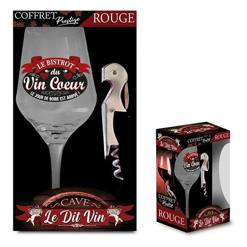 Coffret verre à vin + tire bouchon
