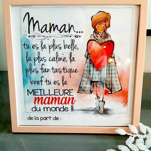 Cadre poème Maman