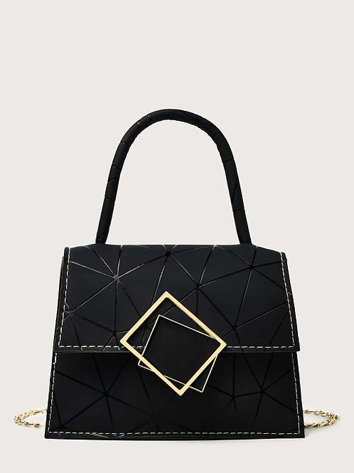 Mini sac graphique noir