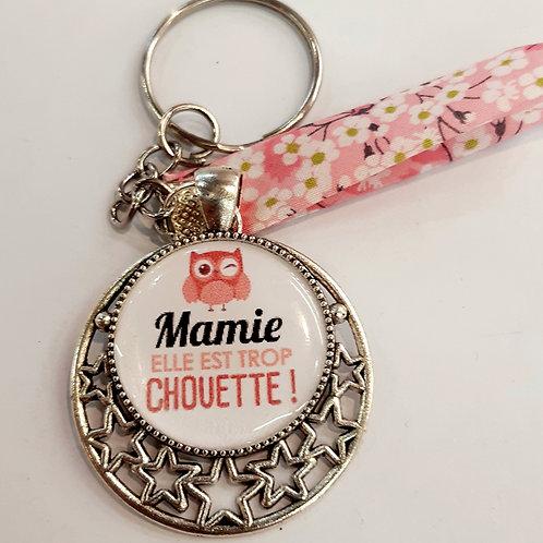 "Porte clé "" Mamie chouette"""