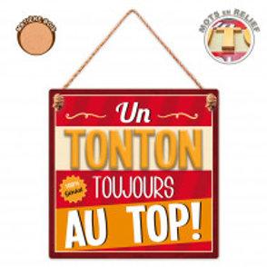 """Plaque en bois """"Tonton"""""""