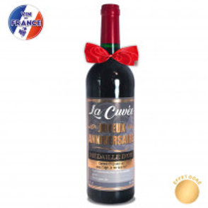 """Bouteille Vin """" Joyeux anniversaire"""""""
