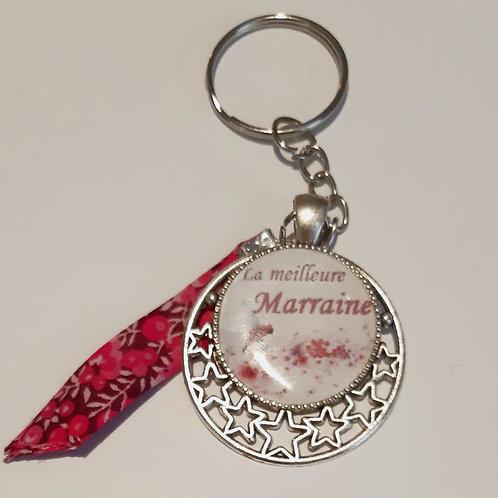 """Porte clé """"la meilleure Marraine"""""""