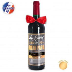 """Bouteille Vin """" Cuvée de Beau-Papa"""""""