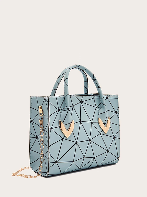 Mini sac graphique bleu