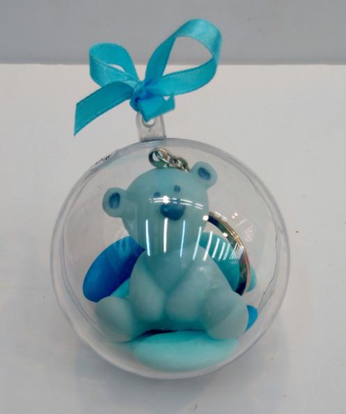 c8c12b1a62581 Porte clé ourson bleu en plastique. 5cm. ref 771. Prix non garni  1.50 €  Prix garni   2.50 € garni 1 tulle turquoise (Si vous souhaitez une autre  couleur de ...