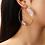 Thumbnail: boucles d'oreilles Créoles papillon