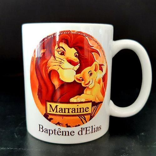 Mug personnalisable Roi lion n°2