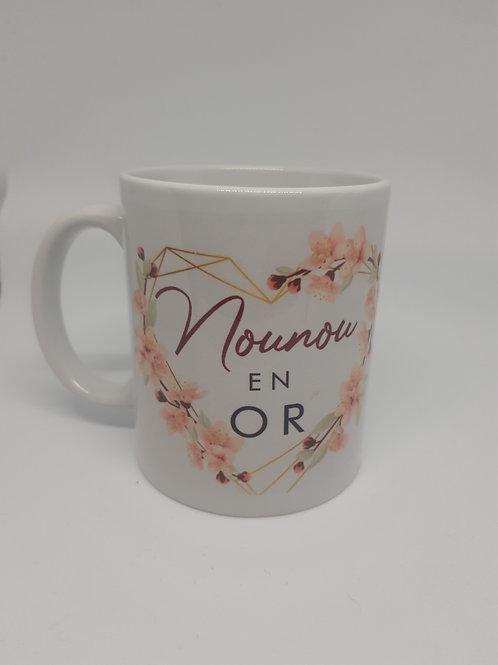 """Mug """"Nounou en Or"""""""
