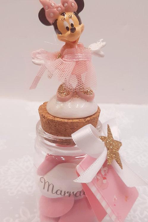 Bocal Minnie Ballerine parrain/ Marraine