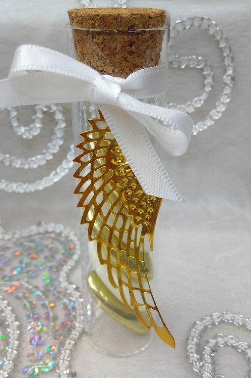 Mini tube +aile ange doré