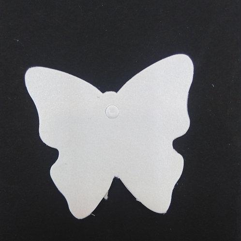 Etiquette papillon blanc