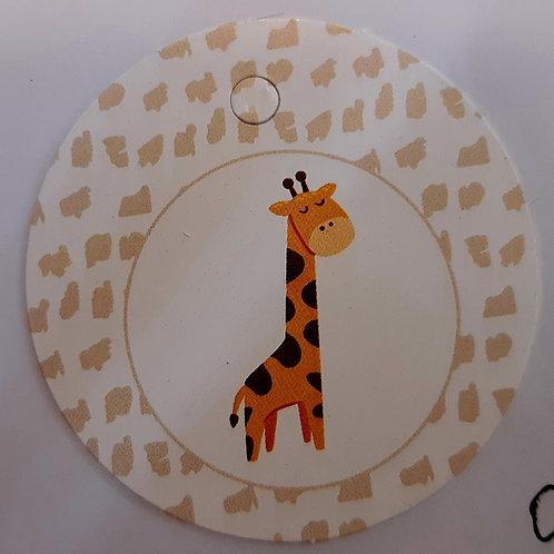 Etiquette Girafe ronde