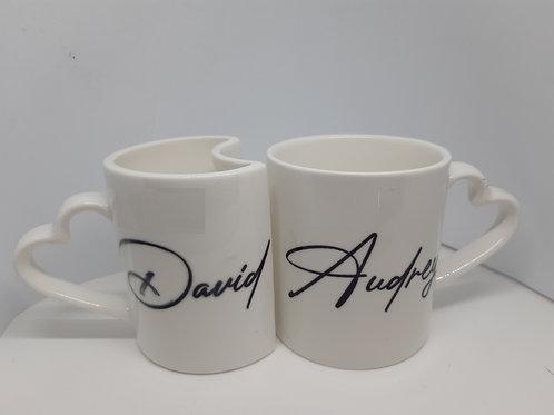 Duo de mugs personnalisés