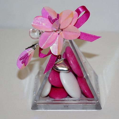 Pyramide Fleur rose