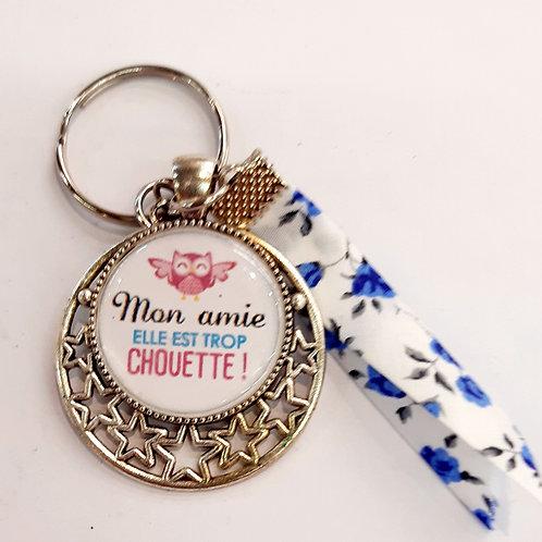 """Porte clé """"mon Amie chouette"""""""