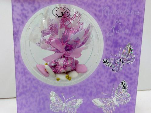 Vase Papillon violet