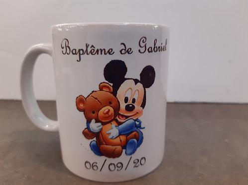 Mug personnalisable mickey baby