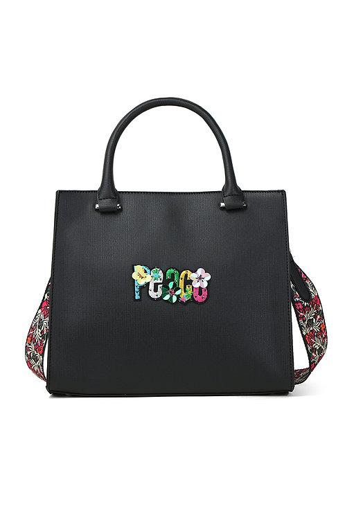 "sac bandoulière fleuri ""PEACE"""