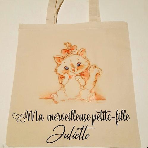 Tote Bag personnalisé Chat Marie