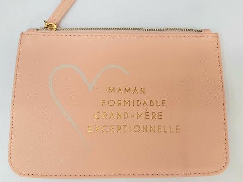 "Pochette maquillage ""Maman formidable Grand mère exceptionnelle"""""