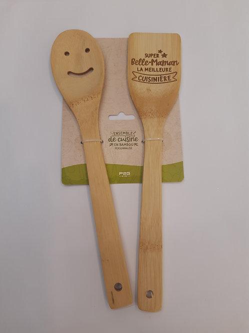 """Spatules cuisine en bambou """"belle-Maman"""""""