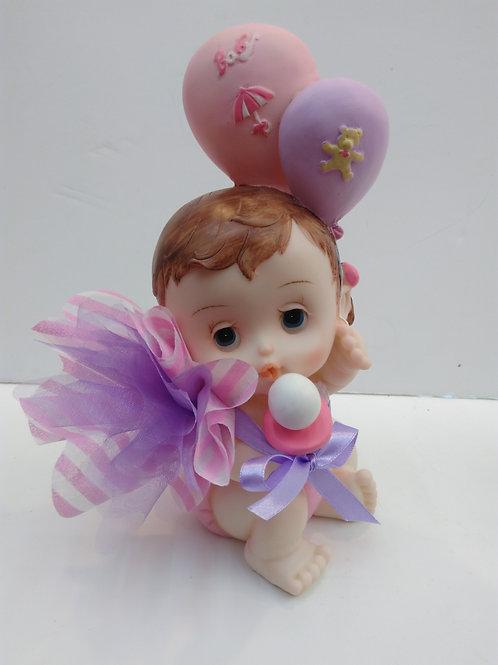 Bébé fille ballons