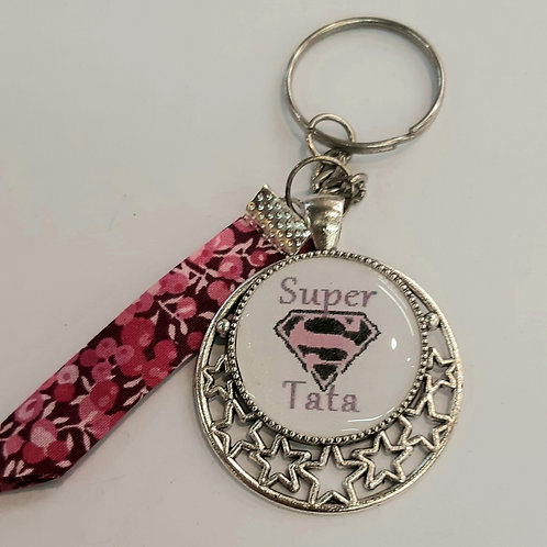 "Porte clé ""Super Tata"""