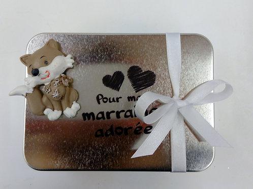 Boite métal Marraine + aimant renard
