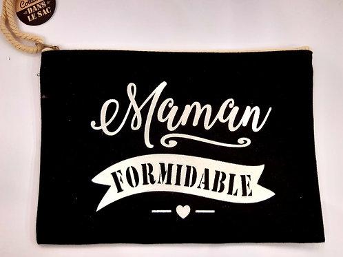 "Pochette en tissu ""Maman Formidable"""