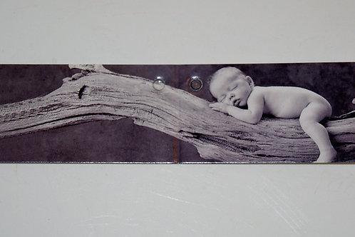 Etiquette bébé gris