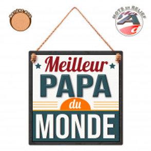 """Plaque en bois """"Papa"""""""