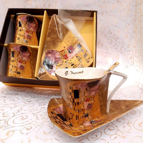 Coffret 2 Tasses assymétriques Klimt