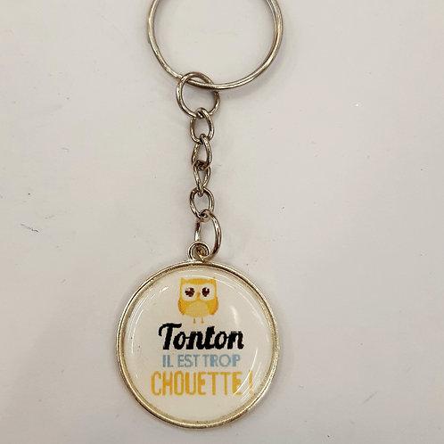 """Porte clé """"Tonton chouette"""""""