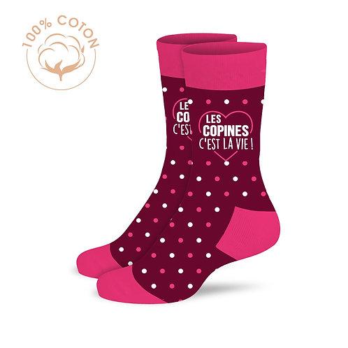 """Chaussettes """"Les copines c'est la vie"""""""
