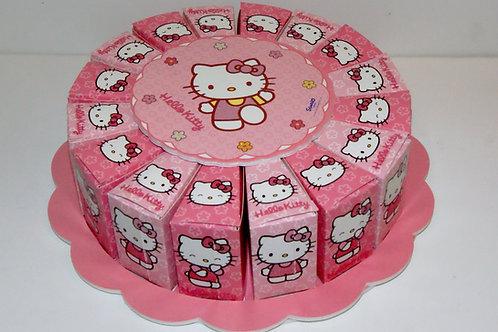 Gâteau 16 parts hello kitty