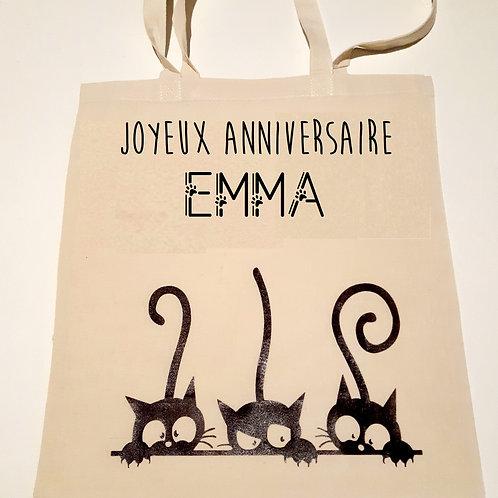 Tote Bag Joyeux anniversaire personnalisé