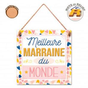 """Plaque en bois """"Marraine"""""""