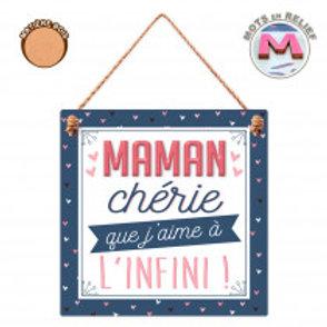 """Plaque en bois """"Maman"""""""