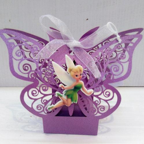 Boite papillon violette Fée clochette