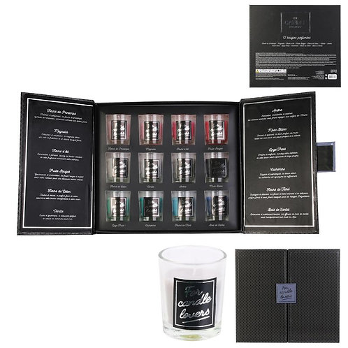 Cofrret Luxe 12 bougies parfumées