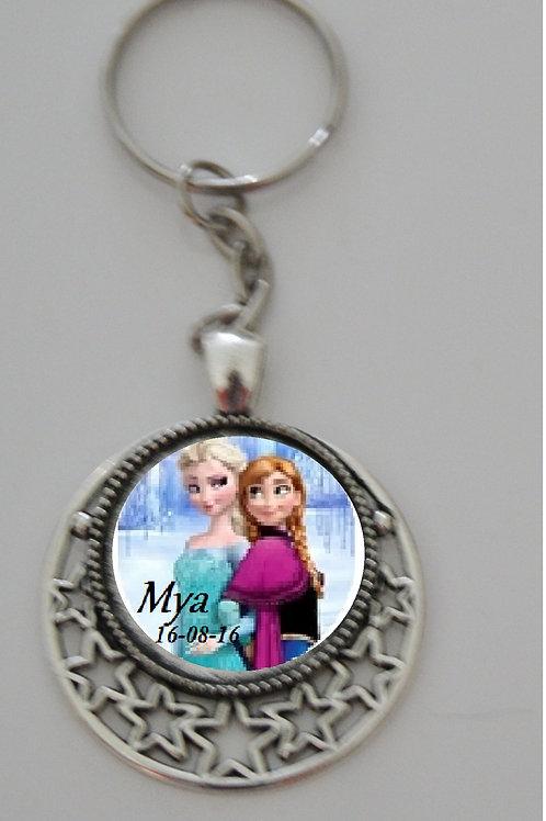 Porte clé personélisé Elsa et Ana